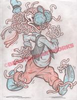 FLYING SPAGHOOFY MONSTER rough pencils by pop-monkey