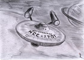 Enterprise Sketch by IreneLaMagra
