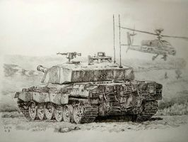 Challenger 2 MBT (ball pen  pencil) by lhlclllx97