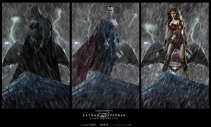 Batman v Superman TRINITY Wallpaper by RedHood2913