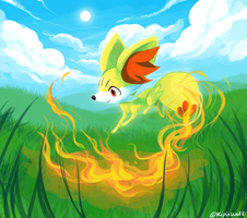 Fire tail by Kipine