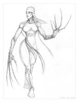 Lady Deathstrike sketch by ogi-g