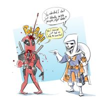 Deadpool and Taskmaster by Sodano