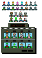 SMK MK8 DLC Character Sprites *with Review* by KoopshiKingGeoshi