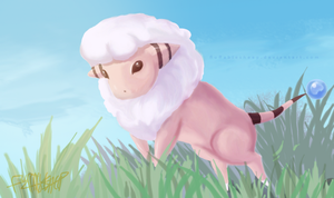 Advent Request #17: Quick. A Wild Flaaffy appeared by FluffableSheep