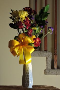 Flowers in a Vase by Artlune