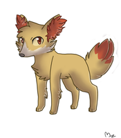 Fennekin by Meowberries