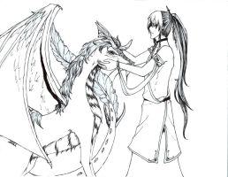 Dragon and Servant by ChronicSleeper
