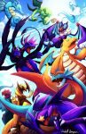 AN signed work pokemon dragons by michellescribbles