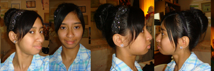Me with messy high updo hair by Magic-Kristina-KW