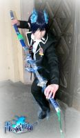 Ao No Exorcist - Rin Okumura Blue Flames Version by K-I-M-I