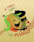 Dancing Mangoes Art Print by chrisnunn