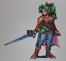 Terra FF6 - Perler + Hama by Xylophonia