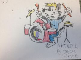 Drummer doggy by WolfGang-Jake