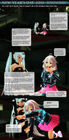 MMD New Year 2014 ... a comic ... ? by Trackdancer