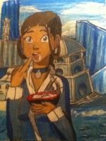 Katara with noodles by kanasatthu