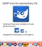 elementary GIMP icon by ennui-illustrator