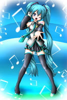 Gift Art: Hatsune Miku by Hero-of-Awesome