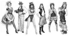 Steampunk Fashion Studies by Built4ever