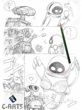 WALL-E and a bra by Maguta
