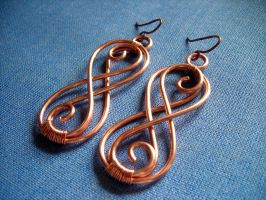 Figure Eight Earrings by pikabee