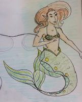 Mermaid Work Sketch by psychoviolinist1012