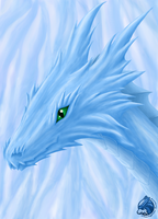 Ice-Dragon - Colored by Starfighter-Suicune