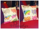 cute piggy cushion cover by passionfyre