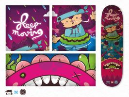 keep moving - on skate by NOF-artherapy