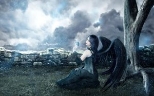 lonely angel by DexterAdriano