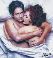 X-Files Gets Cozy Drawing by Live4ArtInLA