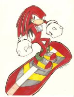 Sonic Riders: Knuckles Color by Vauz