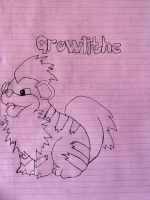 Growlithe Drawing by DatRets