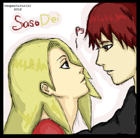 Sasori and Deidara oekaki by vespertitio