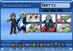 HURRIC TRAINER CARD! by hurricanestormer