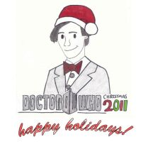 Doctor Who Christmas Card by trekkiekidmaddie