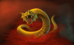 Golden Serpent by ElifSiebenpfeiffer
