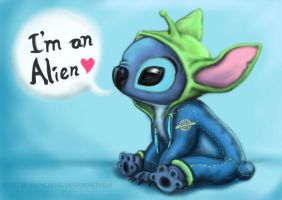 Stitch is an Alien by TrumanCheng