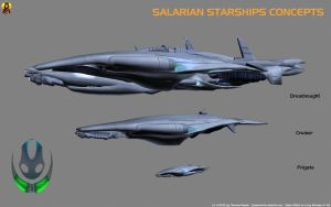 Salarian Starship Concept by Euderion