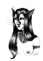 Cat Luki ( pencil ) by LedyRaven