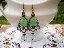 Dangle Earrings by twistedjewelry
