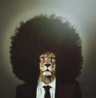 Afro Lion by johnsoko3236