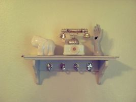 White shelf with white items by heatherdrefke