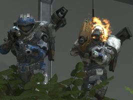 halo reach: friends by purpledragon104