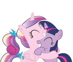 Cadence and Twilight hugs by JoeMasterPencil