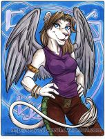Winged White Lioness 4 Sale by lady-cybercat