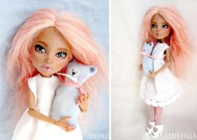 OOAK Howleen Wolf - Fully customized Monster High by Katalin89