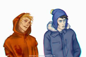 Kenny Mccormick and Craig Tucker by Khonar