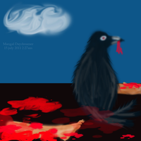 Hungry Raven by sumangal16