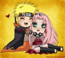 NaruSaku-Chibi by Flying-Rose